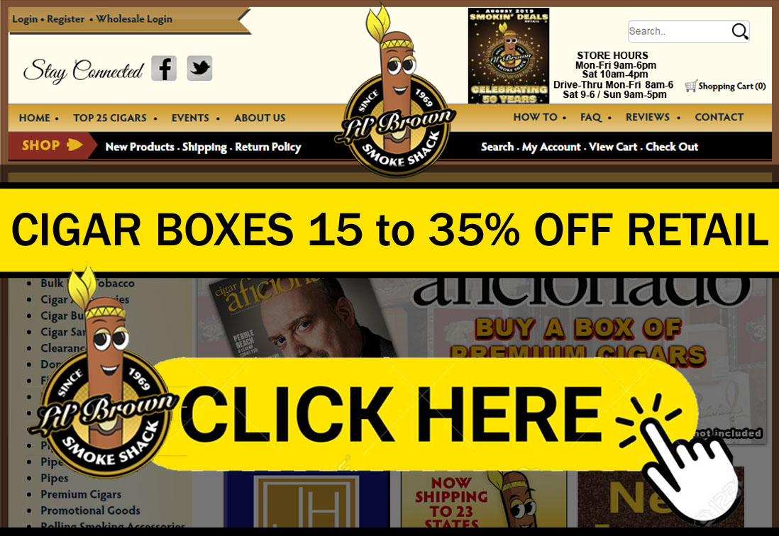 Cigars Best Deals Online Near Me | 15% off Retail